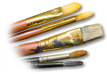 Paint brushes used by Artist and Painter, Prince Edward County
